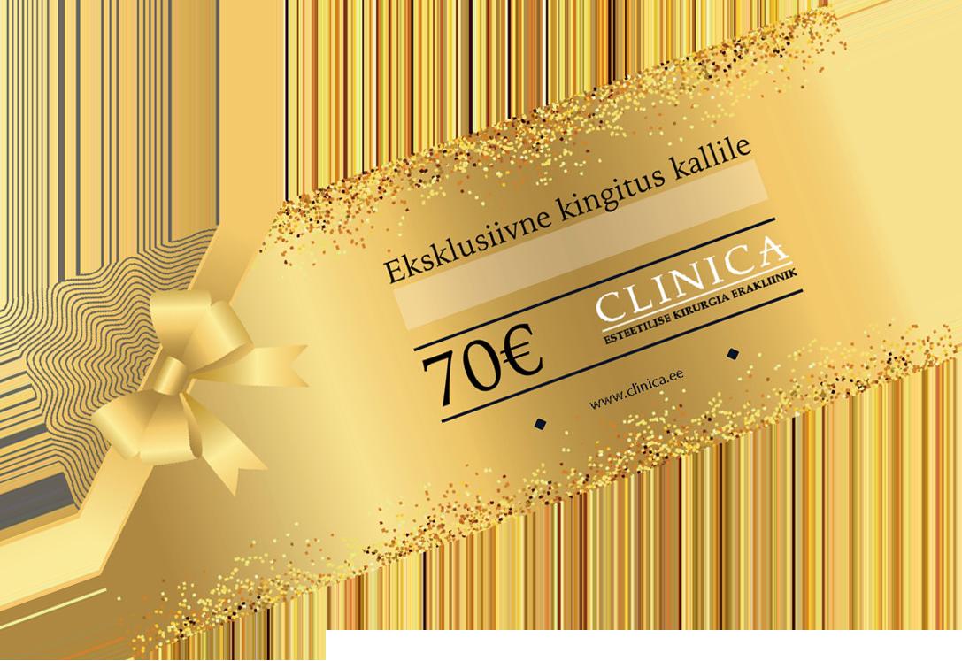 CLINICA kinkekaart 70€